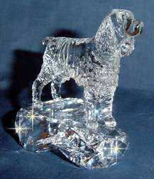 Crystal Sculpture of English Springer Spaniel