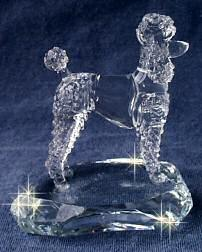 Hand-Sculpted Crystal Statue of the Poodle Side View